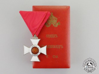 Bulgaria, Kingdom. An Order of St. Alexander, 5th Class, Knight, Type II
