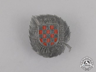 Croatia. A Russian Service Badge, c.1944