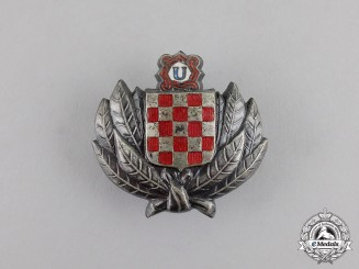 Croatia. A Treasure Guard Badge, c.1944