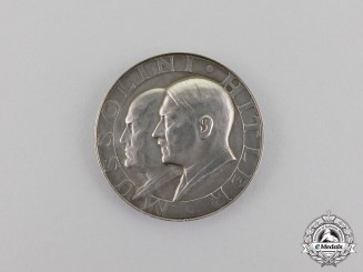 Germany. A 1937/38 Führer & Mussolini State Meeting Medal