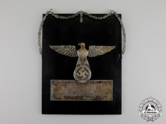 Germany. A Wall Plaque with Inspirational Quote to Pilots by A.H. Personal Pilot
