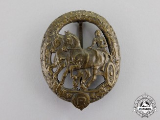 "Germany. A Bronze Grade Horse ""Driver"" Badge by Christian Lauer"