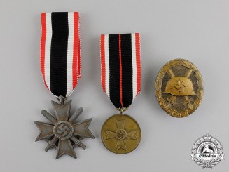 Germany. Three Medals, Award, and Decorations