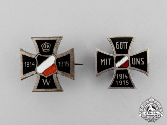 Germany. Two First War Period Patriotic Pins