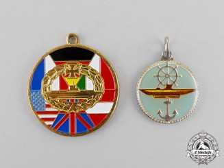 Germany. Two Post-War U-Boat Veteran's Organization Badges