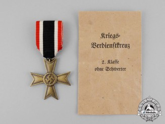 Germany. A War Merit Cross Second Class without Swords with Packet by Katz & Deyhle