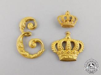 Germany. A Set of Prussian 3rd Regiment Queen Elizabeth Grenadier Guards Shoulder Board Insignia