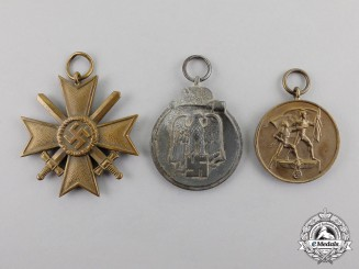 Germany. Three Wartime Period Medals, Awards, and Decorations