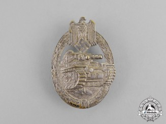 Germany. A Early Silver Grade Tank Badge by BH Mayer