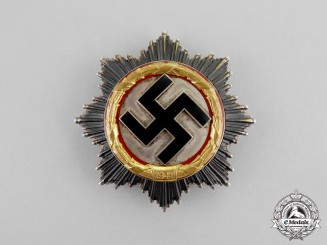 Germany. A German Cross in Gold, by Deschler, Attributed to to Hauptmann Bruns