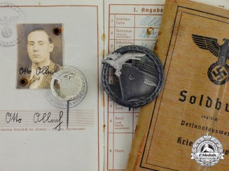 Germany. A Blockade Runner Badge Group to Mechanic Otto Ollech, KIA 1943
