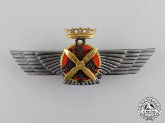 Spain. An Early Civil War Period Nationalist Air Force Pilot Badge