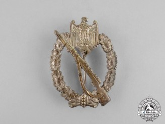 Germany. A Silver Grade Infantry Assault Badge by Juncker