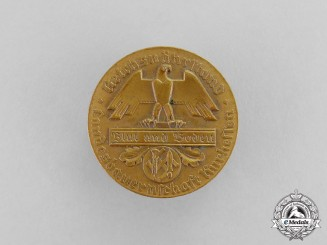 Germany. A Blood and Soil Farmer's Union of Kurhessen 10 Year Membership Badge