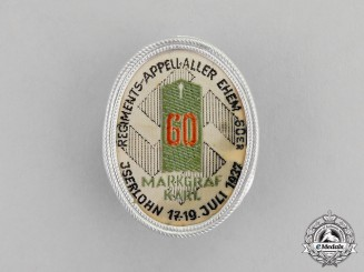 Germany. A 1937 Veterans of the 60th Regiment Meeting in Iserlohn Badge