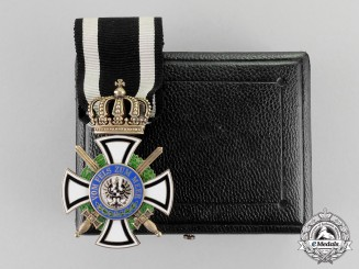 Prussia. A 1916-1918 Issue Royal Houseorder of Hohenzollern Knight's Cross with Swords