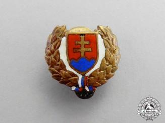 Slovakia. A Hlinka Slovak People's Party Membership Badge