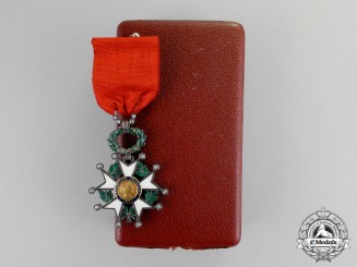 France, Third Republic. A Legion D'Honneur, Knight,  c.1880, with Diamonds