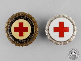 Austria. Two Red Cross Badges