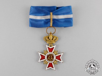 Romania, Kingdom. An Order of the Crown, Commander, Type II (1932-1947)