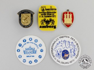 Germany. Five Post War Veteran's Organization Badges