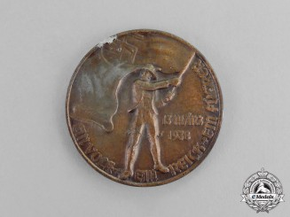 "Germany. A 1938 ""One People, One Nation, One Leader"" Patriotic Medal"