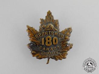 "Canada. A 180th Infantry Battalion ""Sportsmen Battalion"" Cap Badge"