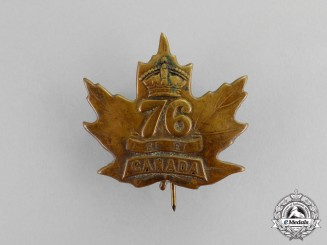 Canada. A 76th Infantry Battalion Cap Badge