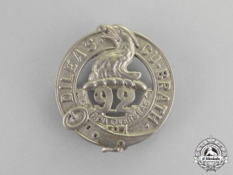 "Canada. A 92nd Infantry Battalion ""48th Highlanders"" Glengarry Badge"