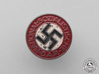 Germany. A Second War Period NSDAP Membership Badge by Carl Poellath of Schrobenhausen