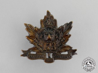 "Canada.  A 173rd Infantry Battalion ""Canadian Highlanders"" Cap Badge"