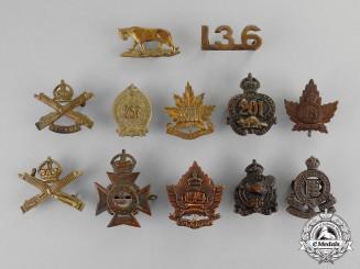 Canada. A Lot of Twelve First War and Inter-War Insignia