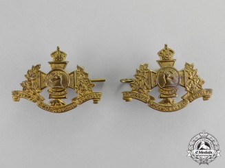 Canada. A Set of Hastings and Prince Edward Regiment Collar Tabs