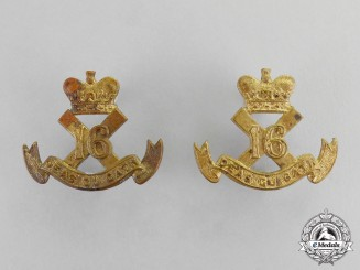 """Canada. A Set of 16th Infantry Battalion """"Canadian Scottish"""" Collar Tabs"""