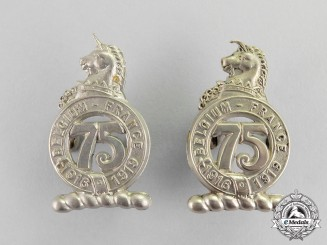 A Post First War Pair of 75th Infantry Battalion Collar Tabs