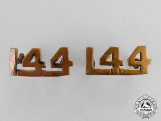 "Canada. A Set of 144th Infantry Battalion ""Winnipeg Rifles"" Collar Tabs"
