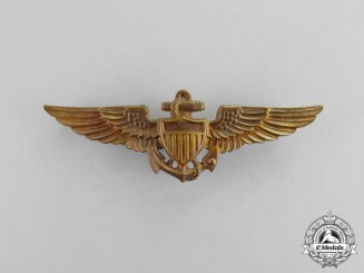 United States. A Naval Aviation Pilot Wing by Amico, c.1935