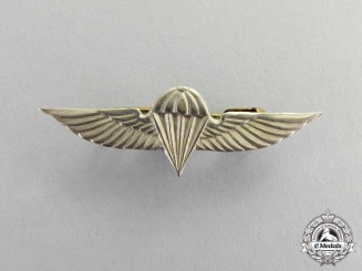 United States. A Miniature Navy Parachutist Sweetheart Badge
