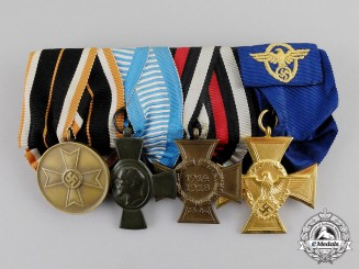 Germany. A First and Second War Police Long Service Medal Bar