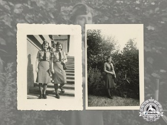 Germany. Two Wartime Photos of Female Army Signals Auxiliaries