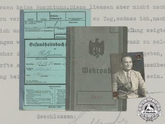 Germany. A Wehrpaß & Health Book to Feldwebel Otto Hoffmann