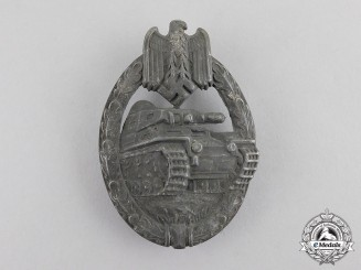Germany. A Second War Period Silver Grade Tank Badge