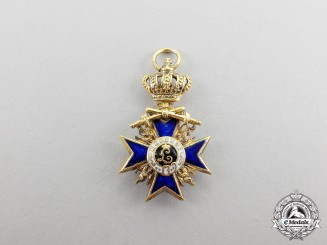 Bavaria. An Order of Military Merit Grand Cross with Crown and Swords Miniature Cross