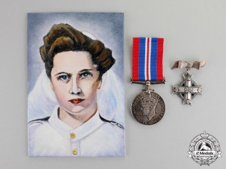 Canada. A Memorial Cross Pair to Nursing Sister Elizabeth Lillie O'Kelly, RCAF