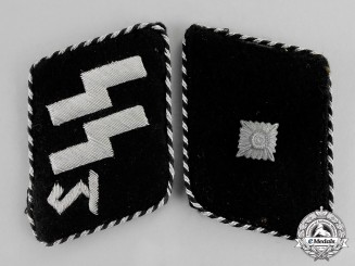 Germany. A 1934-1940 Issue SS Unterscharführer Rank Collar Tabs; Type II