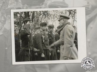 Germany, Heer. A Wartime Photo of von Lauchert & Hansen, Toop Inspection of Panzer Regiment 35