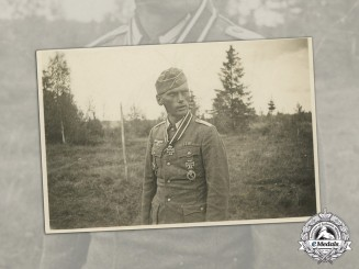 Germany, Heer. A Signed Wartime Photo of a Knight's Cross Recipient, 1944