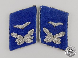 Germany. A Pair of Luftwaffe Medical Personnel Leutnant Rank Collar Tabs