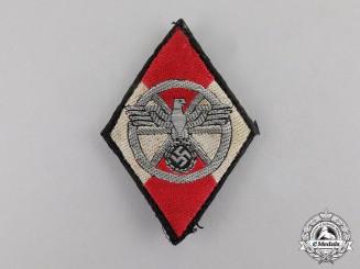 Germany. A NSKK Sleeve Diamond Insignia for Former HJ Members; Uniform Removed