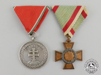 Hungary, Kingdom. A Pair of Awards & Decorations